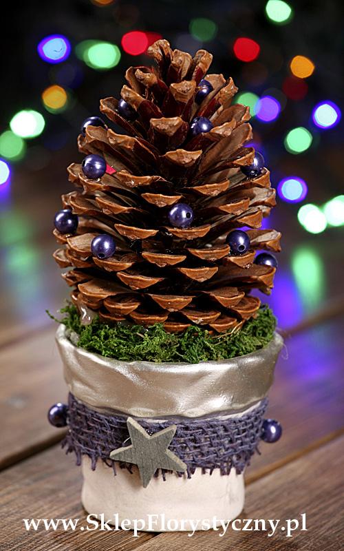 Stroik bożonarodzeniowy z szyszką gigant