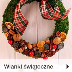 Wianki bożonarodzeniowe na drzwi