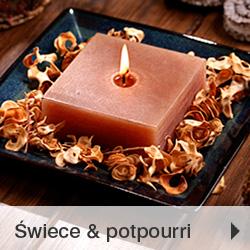 Świece i potpourri aromatyczne zapachowe