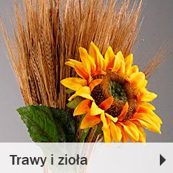 Trawy i zioła dekoracyjne bukiety suche