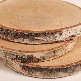 Plaster drewna do dekoracji brzoza 7-10 cm gr. 1-2 cm opakowanie 3 sztuki