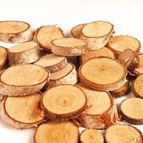 Plastry suszonego drewna 24 szt  brzoza