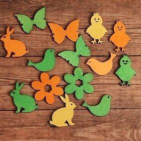 Wielkanocne figurki drewniane 3-4 cm  24 szt./op. PROMOCJA