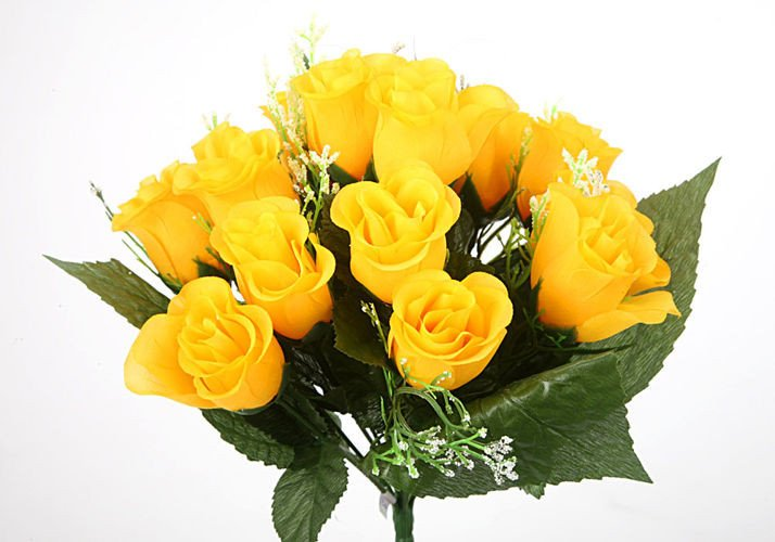4571cf56fbaba3 Bukiet róż w pąkach żółtych - 38 cm | kwiaty sztuczne \ wazonowe ...